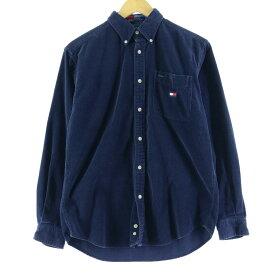 90s TOMMY HILFIGER 長袖 ボタンダウン コーデュロイシャツ
