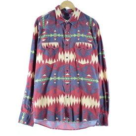 Ralph Lauren LAUREN JEANS COMPANY ウエスタンネルシャツ