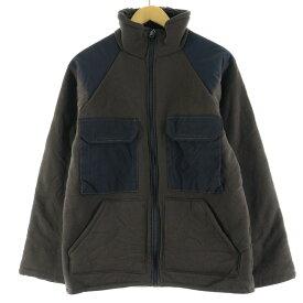 90s ベアージャケット ブラウンパイルジャケット ミリタリー フリースジャケット