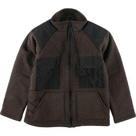 ベアージャケット ブラウンパイルジャケット ミリタリー フリースジャケット
