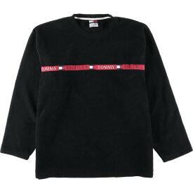 90s TOMMY HILFIGER JEANS フリーススウェットシャツ トレーナー