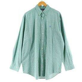 ラルフローレン Ralph Lauren 千鳥格子柄 長袖 ボタンダウンシャツ