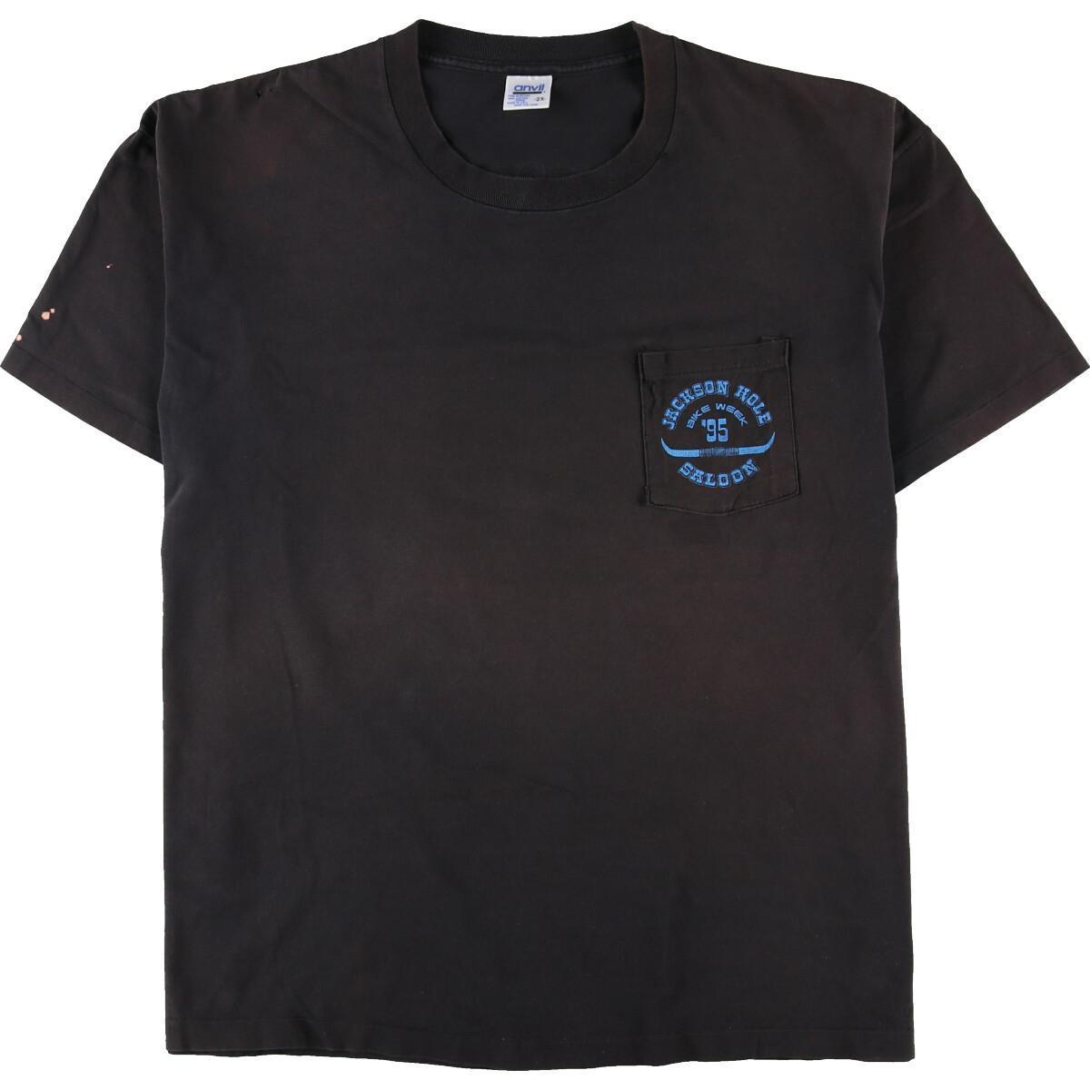 トップス, Tシャツ・カットソー 90 anvil JACKSON HOLE SALOON BIKE WEEK 95 T USA XXXL eaa108114 210325SS2106SS2109
