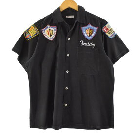 60s HECBECT GCAU レーヨンボウリングシャツ