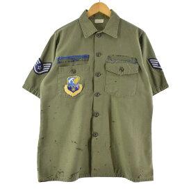 70年代 SHIRT UTILITY COTTON SATEEN OG 107 ミリタリー ユーティリティシャツ