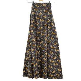 70s UNKNOWN マキシ丈 ラップ 巻きスカート