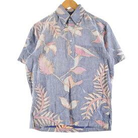 70s REYNSPOONER 金タグ 乳首タグ ハワイアンアロハシャツ