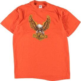 80s Collegiate Pacific Harley-Davidson バイクTシャツ