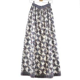 60〜70s UNKNOWN マキシ丈 プリーツスカート