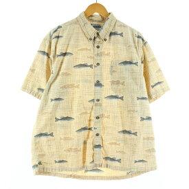 Columbia 半袖 ボタンダウンチェックシャツ