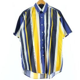 Ralph Lauren CHAPS チャップス 半袖 ボタンダウンストライプシャツ
