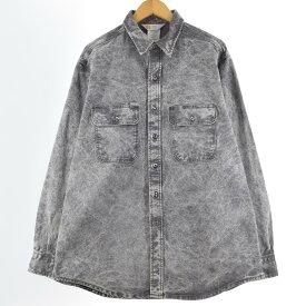90s Carhartt ダック地ワークシャツ