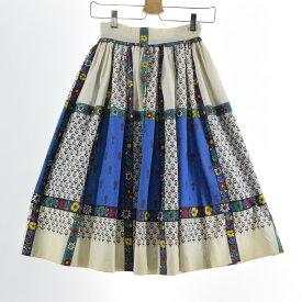 60s UNKNOWN ハーフ丈 ギャザースカート