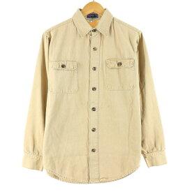 70s Patagonia 白タグ 長袖 コットンキャンバスシャツ