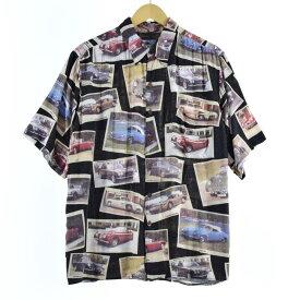 80〜90s REYNSPOONER ダイヤモンドヘッドタグ ハワイアンアロハシャツ
