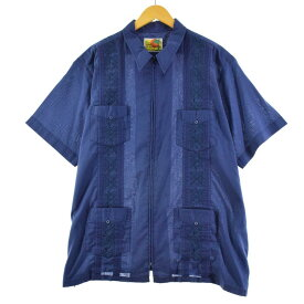 The GENUINE HABAND GUAYABERA 半袖 メキシカンシャツ キューバシャツ