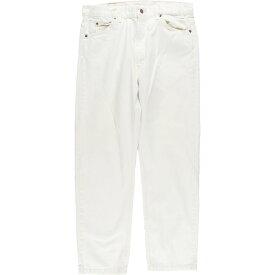 Levi's 505 0251 ホワイトジーンズ テーパードデニムパンツ