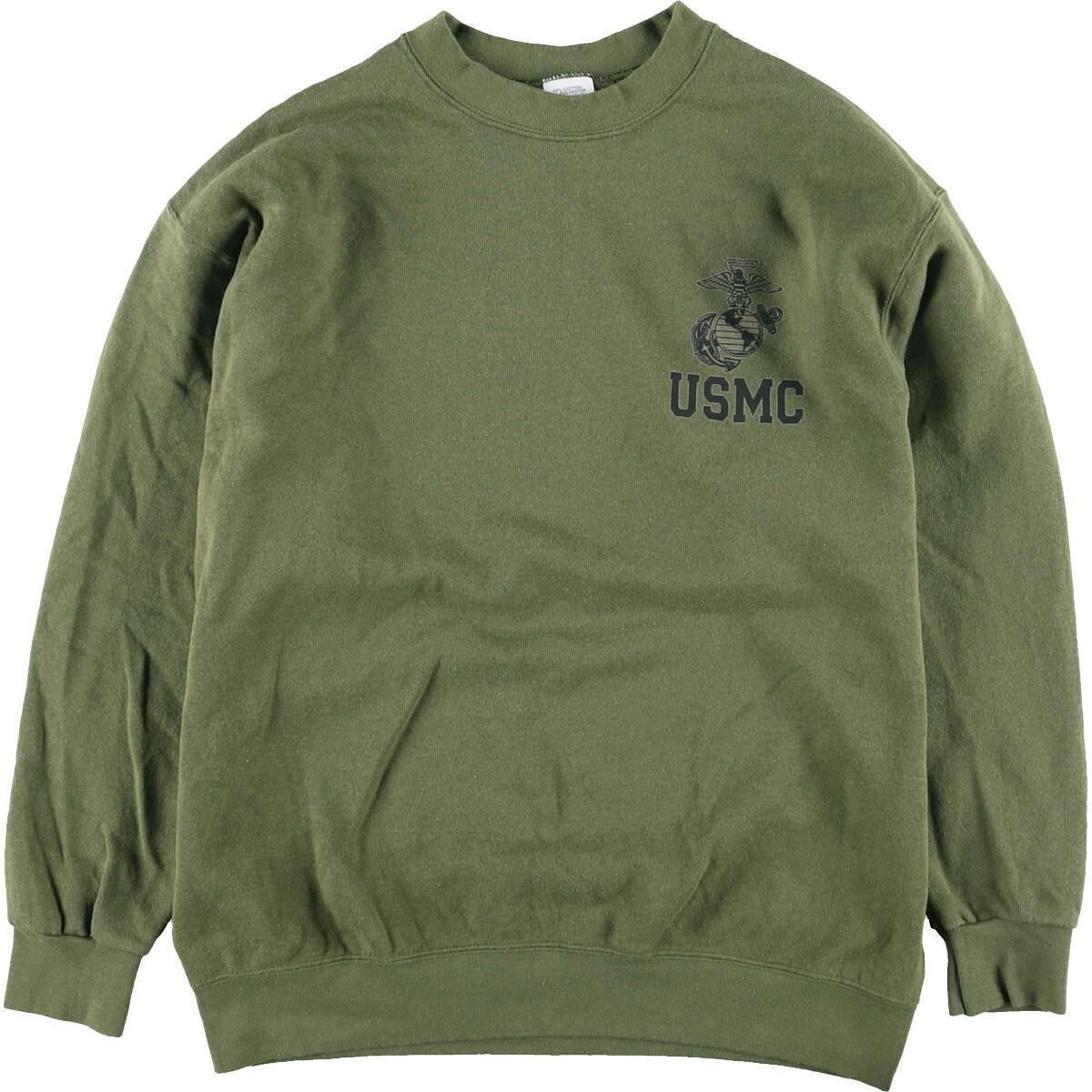 USMC アメリカ海兵隊 プリントスウェットシャツ トレーナー