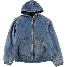 80s Carhartt アクティブジャケット デニムワークジャケット