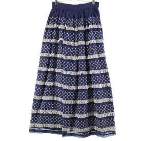 70s UNKNOWN マキシ丈 ギャザースカート