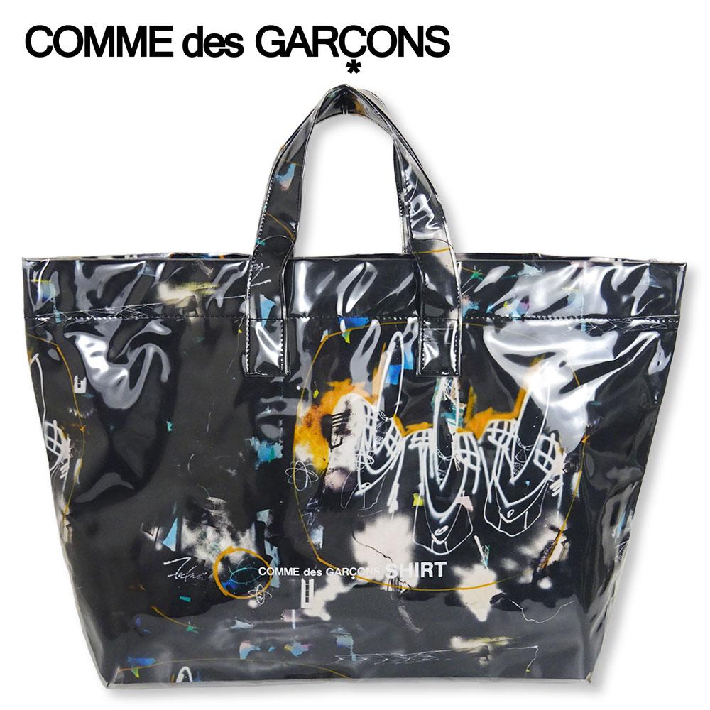 男女兼用バッグ, トートバッグ COMME des GARCONS SHIRT FUTURA ( ) W28610 FUTURA GRAPHIC PRINT LARGE TOTE BAGBLKF