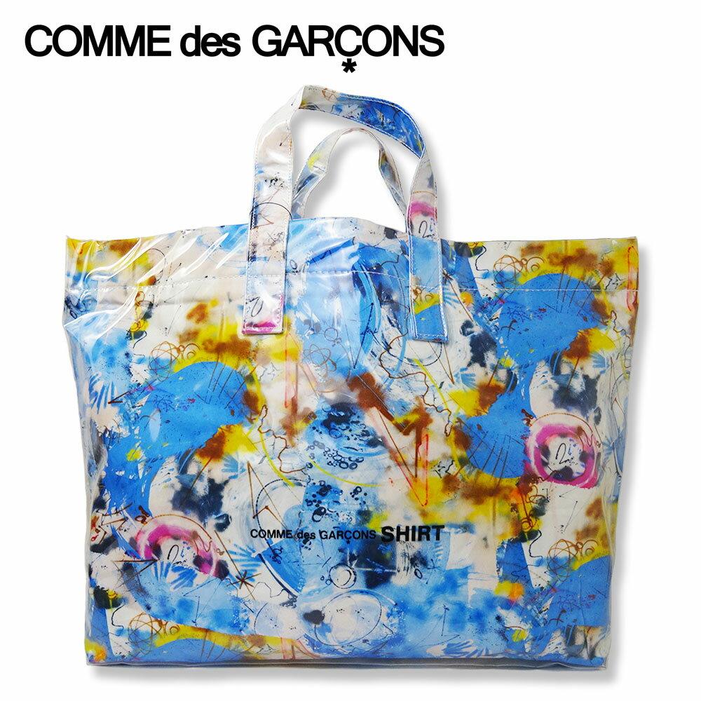 男女兼用バッグ, トートバッグ COMME des GARCONS SHIRT FUTURA ( ) W28610 FUTURA GRAPHIC PRINT LARGE TOTE BAGBLUF