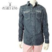 【50%OFF】PEARLY KING (パーリーキング) デニムシャツ [メンズ] STALLION 【DNM/S・M・L・XL・XXLサイズ】正規品 長袖 ロングスリーブ UK【大きい big ビッグサイズ】 16S/S10P03Dec16【あす楽】