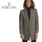 【送料無料】【40%OFF】PEARLY KING (パーリーキング) チェスターコート [メンズ] VANEER 【BLK/S・M・L・XL・XXLサイズ】オーバーコート ツイードジャケット ウールコート アウター10P03Dec16【あす楽】