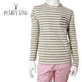 【60%OFF】PEARLY KING (パーリーキング) スウェット [メンズ] WAFER 【NATURAL/S・M・Lサイズ】正規品 クルースウェット トレーナー ボーダー UK 16S/S10P03Dec16【あす楽】