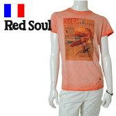 【ネコポス対応】【60%OFF】RED SOUL (レッドソウル)半袖Tシャツ[メンズ] MRDS202G 【PNK(60)/S・M・L・XL・XXLサイズ】 ショートスリーブ ピンク フランス サーフビッグ 2016春夏新作 16S/S10P03Dec16【あす楽】