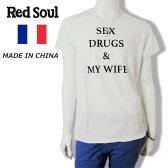 【60%OFF】RED SOUL (レッドソウル)半袖Tシャツ[メンズ] MRDS222G 【WHT(20)/S・M・Lサイズ】 ショートスリーブ ホワイト 白 フランス サーフ 16S/S10P03Dec16【あす楽】