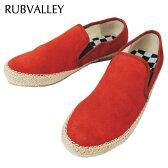 【60%OFF】RUBVALLEY (ラヴァレー) ジュードテープ スエード スリッポン スニーカー[メンズ] 15-5081-RED 【RED/1・2・3・4サイズ】 正規品  15S/S10P03Dec16【あす楽】
