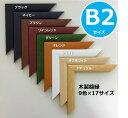 【B2:515×728mm】国産木製額縁/ポスターフレーム/パネル