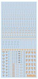 ハイキューパーツ RB02−100OAG 1/100 オレンジ&グレー RB02コーションデカール (1枚入)【配送日時指定不可】