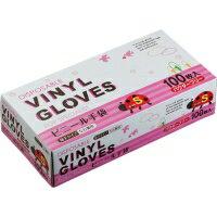タカマツヤ ビニール手袋 パウダーフリー S 1箱(100枚)