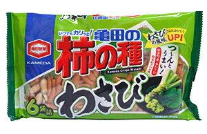 ★まとめ買い★亀田製菓亀田の柿の種わさび6袋詰×12個