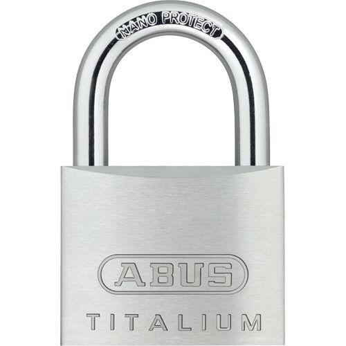 ABUS 南京錠 タイタリウム 64TI 50mm 1個