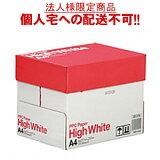【送料無料】【A4サイズ】PPC PAPER High White A4 1箱(2500枚:500枚×5冊)【法人(会社・企業)様限定】【イージャパンモール】