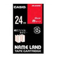 ★まとめ買い★カシオネームランドテープ24mm赤/白文字XR-24ARD×10個