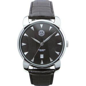57dbfada95 【送料無料】フォルクスワーゲン メンズ腕時計 ブラック VW‐013G【代引不可】【ギフト館】