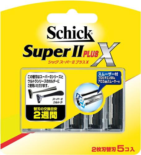 シック・ジャパン スーパーIIプラスX 替刃5コ入 ×2...