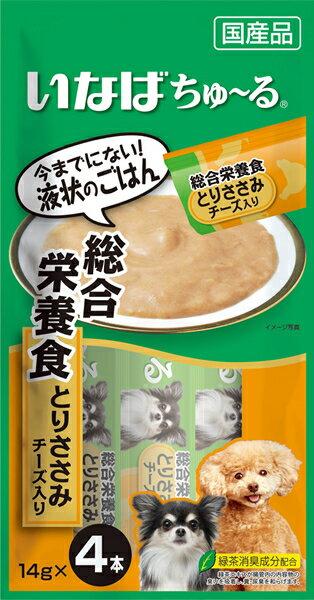 いなば ちゅ~る 総合栄養食 とりささみ チーズ入り 14g×4本 D−107【イージャパンモール】