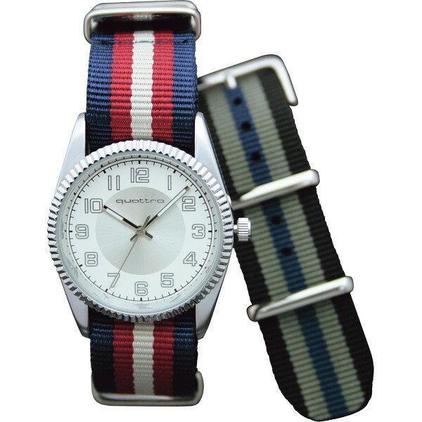 【送料無料】クワトロ メンズ腕時計(替ベルト付) QM‐20R【代引不可】【ギフト館】