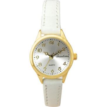 【送料無料】チェイスタイム レディース腕時計 ホワイト CTL−003【代引不可】【ギフト館】