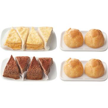 【キャッシュレス5%還元】【送料無料】北海道 ミルクレープ&シュークリームセット【代引不可】【ギフト館】
