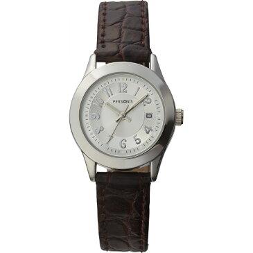 【送料無料】パーソンズ レディース腕時計 シルバー PE−070W【代引不可】【ギフト館】