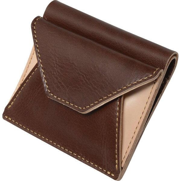 ヌメ革二つ折り財布チョコOJ−1004 代引不可  ギフト館