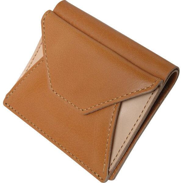 ヌメ革二つ折り財布キャメルOJ−1004 代引不可  ギフト館