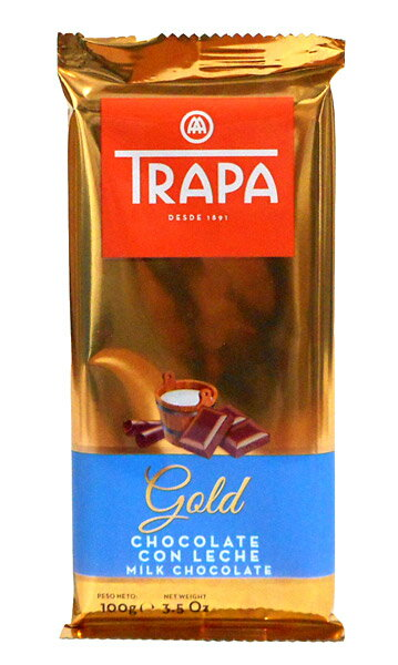 【キャッシュレス5%還元】富士貿易 トラパゴールドミルクチョコレート100g【イージャパンモール】