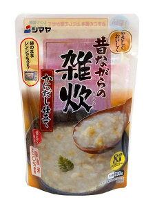 シマヤ 昔ながらの雑炊かにだし仕立てレトルト230g【イージャパンモール】